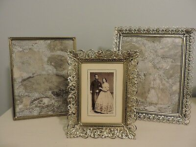Vintage Photo Frames Filigree Ornate Lot of 3