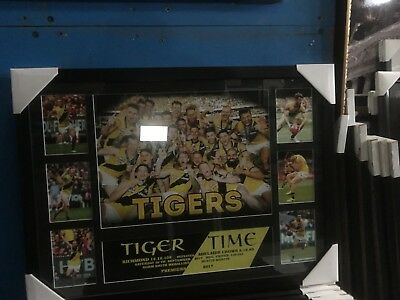 Richmond Tigers 2017 AFL Grand Final Premiership Tiger Time Framed Sportsprint