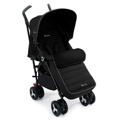 Silver Cross Reflex Pushchair Black With UPF+50 Sun Protection Hood Up To 25kg