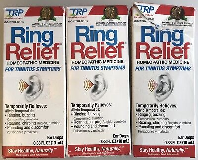 Lot Of Ring Relief Homeopathic 4 Tinnitus. 30ml Total. Exp 4/20, 7/20