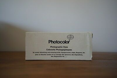 Photocolor photographic dyes for colouring and retouching prints. Unopened.