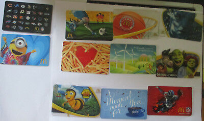 11 Mcdonalds Arch Cards No Value