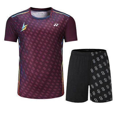 Free printing New Men badminton wear sets ,sport Badminton clothes Gym clothing