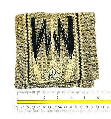 Native American Wool Woven Silver  Saddle Bag Belt Pouch
