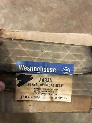 Westinghouse Size 3 Thermal Overload Relay 3 Pole AN33A