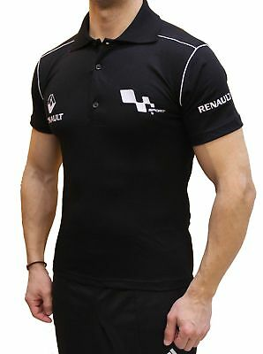 Handmade T-shirt Renault Sport EMBROIDERED COLLAR LOGO Men's Cotton Polo COLLET