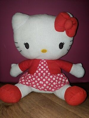 Hello Kitty Plush, Clean, Pink, White, Red