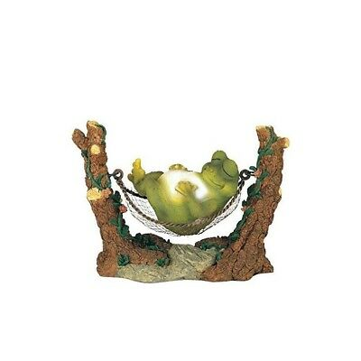 Frog On Hammock Home and Garden Decoration Collectible Figurine Statue Model