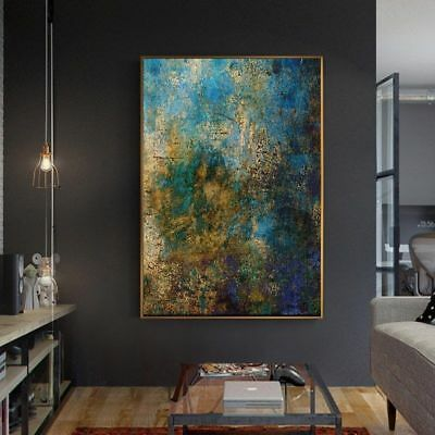 YA939# Modern Wall Decor Hand-painted Abstract oil painting Color art Unframed