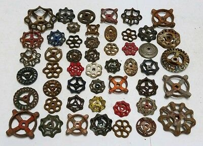 50 A Old Iron Water Faucet Knob Valves Handle Steampunk Industrial Arts & Crafts
