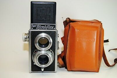 Super Ricohflex TLR Film Camera Ricoh Viewer 1:3.5/8cm Anastigmat Twin Lens