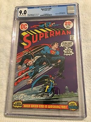 Superman #268 CGC 9.0 Off White To White Pages!  Batgirl Appears!
