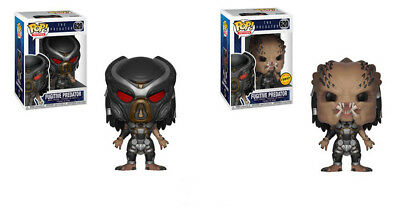 Funko Pop! Movies Fugitive Predator #620 Common and Chase Set of 2 w/ Protector