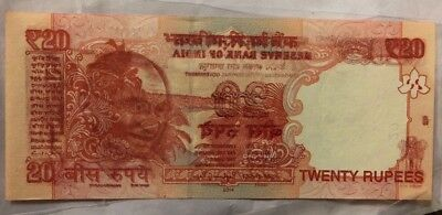 20 rupees water mark error note india uncirculated