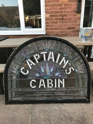 Captains Cabin stained glass fan light from Famous piccadilly landmark