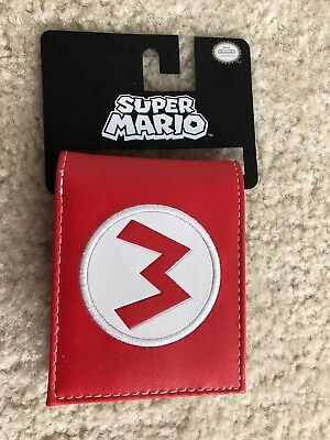 Super Mario Wallet Officially Licensed Nintendo Bioworld Trifold New W/tags!