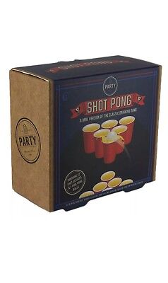 Shot Pong Drinking Game - Retro Style Adult Party Game