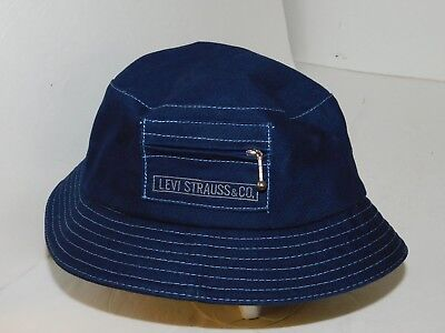8f3a2f58d VTG HAT LEVI Strauss & Co Cap Victory Caps Jean Bucket Hat 90s Summer Levis