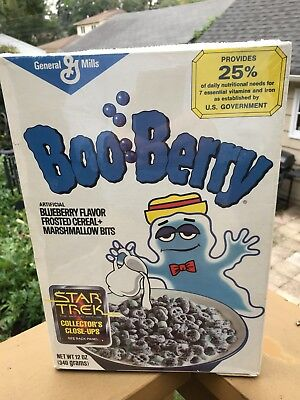 RARE Vintage General Mills BOO BERRY Monster Cereal Box Star Trek 1979