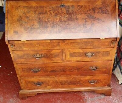 Lovely Burr Walnut Bureau