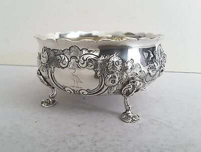 Quality, Crested, Victorian Ant. Solid Silver Embossed/cast Bowl.    Lon.1864.