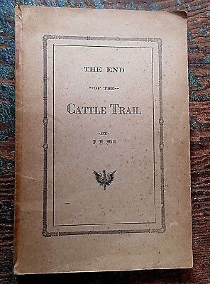 c 1930 END CATTLE TRAIL steers cowboy ranch pix ZANE GREY blind stamp Texas Mont