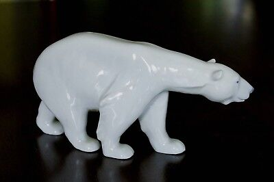 Royal Copenhagen Adult Polar Bear Denmark Walking Polar Bear Mint Condition