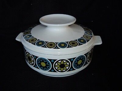 "Vintage Retro Irish Arklow Pottery Lidded Serving Dish ""Mexico"" by Pat McElheron"