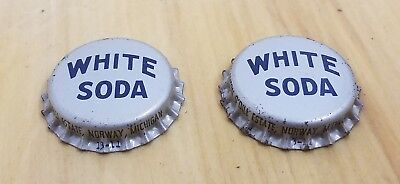 2 Vtg Anton Odill Estate Cork White Soda Bottle Caps Norway Michigan