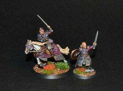 Warhammer lotr painted Theoden King of Rohan foot and mounted Pelennor Fields