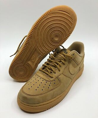 NIKE AA4061-200 Air Force 1 07 WB Flax Wheat Low Men Size 8.5 AF1 Gum