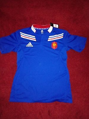 Adidas France Player Issue Rugby Jersey 2012/2013. Size 11 (L/XL)