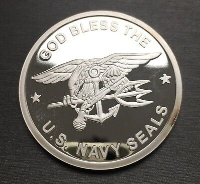 Unique Rare U.S. Navy Seals 100 Mills .999 Fine Silver One 1 Oz Coin!
