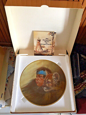 """1977 Gregory Perillo Companion Series """"cubs"""" Plate, Ltd.ed New With Box"""