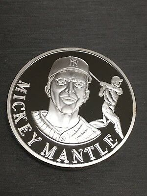 Very Rare Mickey Mantle 100 Mills .999 Fine Silver One 1 Oz Coin!