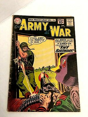 OUR ARMY AT WAR # 105 SGT ROCK 1st APP OF JUNIOR G-VG