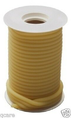 "50 Continuous  feet 3/16"" I.D x 1/8 wall x 7/16"" O.D Latex Rubber tubing Amber"