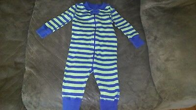 baby boys lot 6-9 months, hanna andersson sleeper, two bodysuits nwt euc