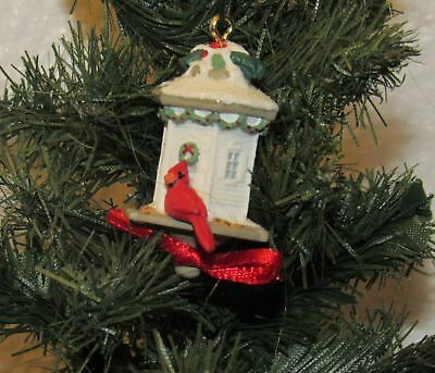Hallmark Keepsake Clever Cardinal Bird House 2003 Miniature Ornament