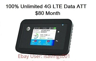 ATT 4G LTE Unlimited HOTSPOT DATA - Netgear Explore 815s - NO THROTTLED NO CAPS