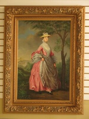 F29495E: Large Oil Painting On Canvas Of Victorian Woman