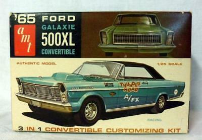 Vintage AMT 65 Ford Galaxie 500XL 3 in 1 Model Kit