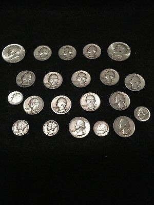 US 90% silver coins, Not junk silver $5.00 Face value, No reserve! Great coins