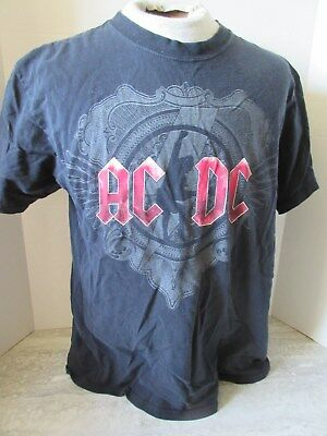 2008/09 AC/DC Black Ice Concert Tour T-Shirt Anvil Size Large