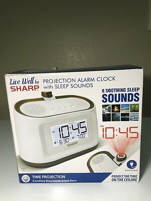 SHARP PROJECTION ALARM Clock with Sleep Sounds (Used)