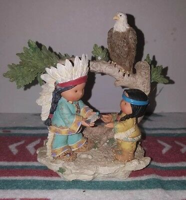 """Enesco Friends Of The Feather Figurine """"Ageless Wisdom, One in Spirt"""" Numbered"""