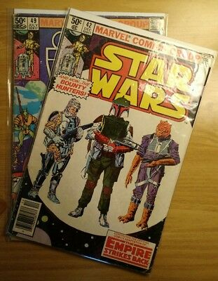Star Wars #42 & #49 (Dec 1980, Marvel) 9.0+ FIRST APPEARANCE BOBA FETT LAST JEDI