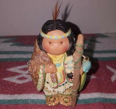 RARE ENESCO FRIENDS OF THE FEATHER  Turquoise CHARM WALKING STICK