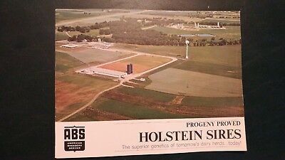 1966 American Breeders Service - Abs Holstein Dairy Cattle Sire Directory (Rare)