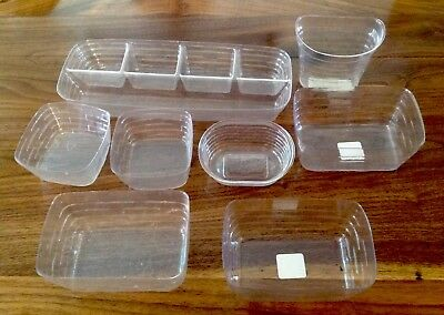 Lot of 7 Longaberger Basket Plastic Protectors - Various Sizes (see description)